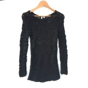 Frenchi Black Knitted sweater